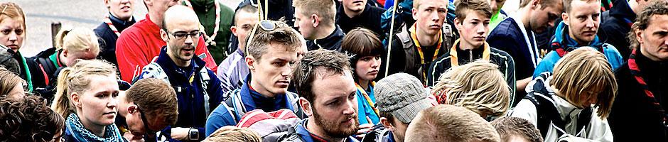 Deltagere venter på at dagløbet starter i Faaborg 2012